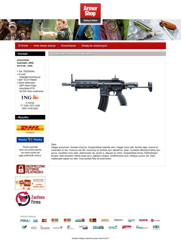 Szablon Allegro Arm Shop
