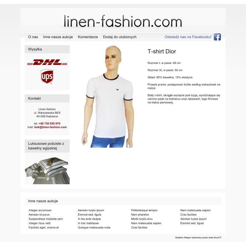 Szablon Allegro Linen Fashion