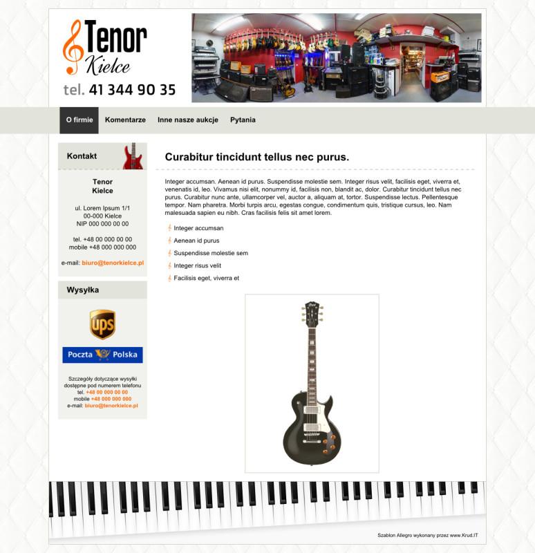 Szablon Allegro Tenor Kielce